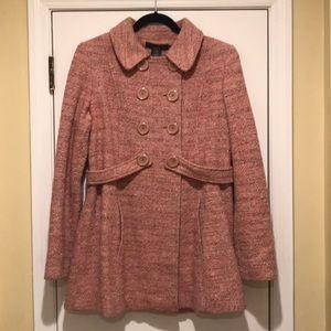 Arden B - Pink Twill Pea Coat (M)